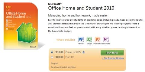 Office 2010 英国