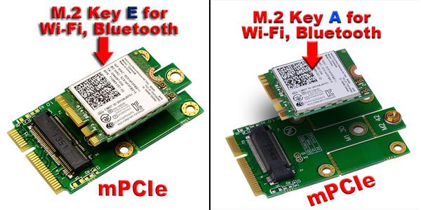 M2スロット Key A, Key E