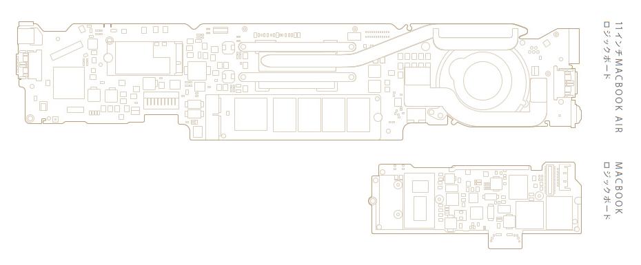 MacBook 2015 マザーボード